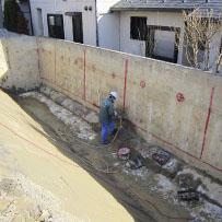 コンクリート擁壁解体画像